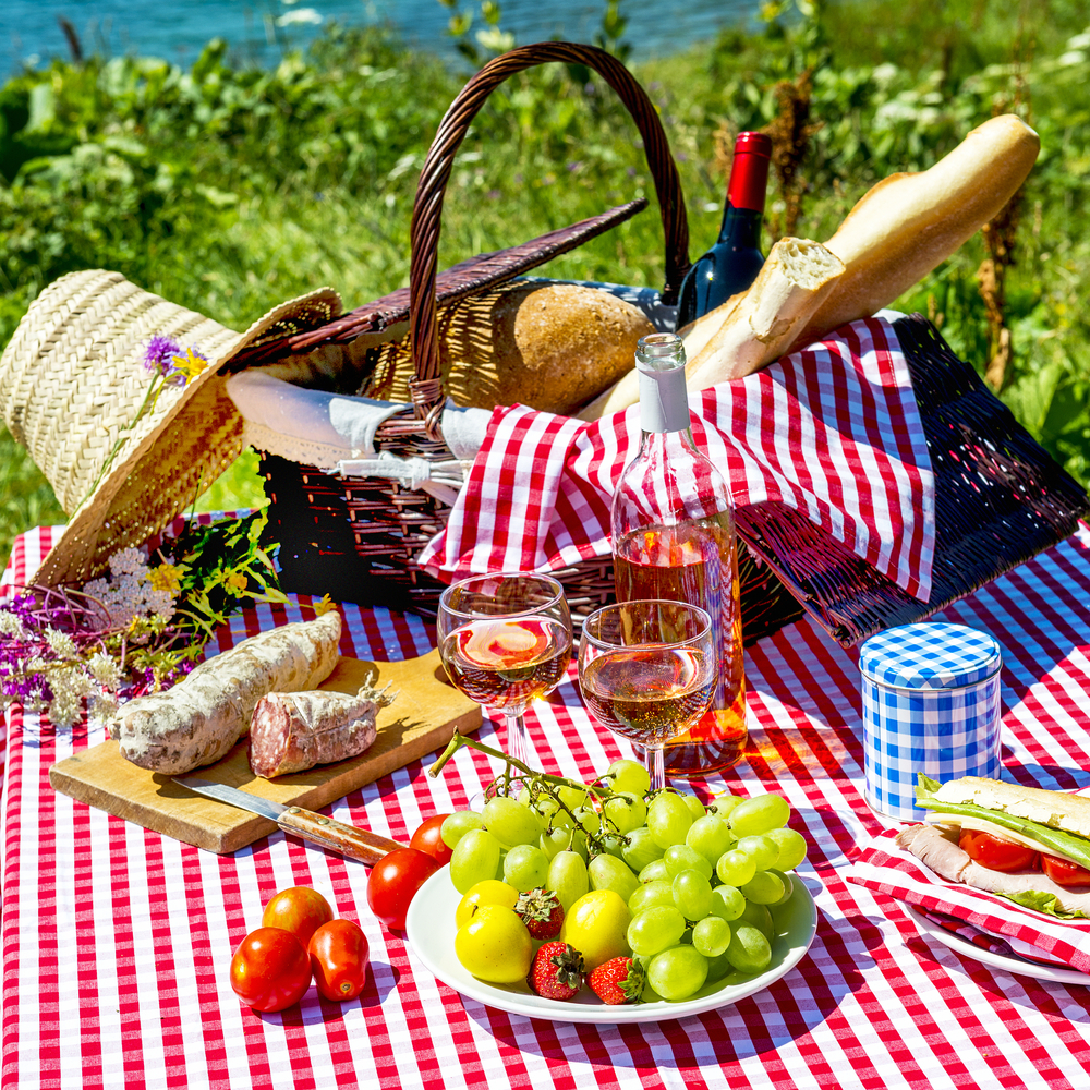 Assortment of picnic foods
